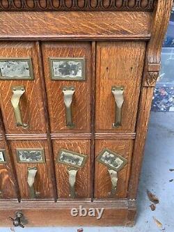 Antique Yawman & Erbe Oak Document Filing Cabinet
