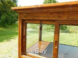 Antique c1900 Oak Bakery Pie Safe Display Showcase Collection Cabinet 74T