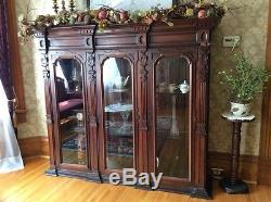 Antique cabinet with 3 sections