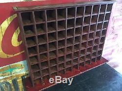 Antique hardware cubby large wood storage cabinet rustic primitive vtg decor