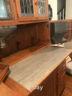 Antique oak hoosier cabinet pristine condition