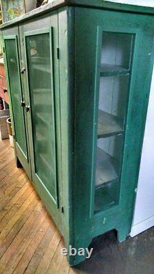 Antique square nailed pie safe, Beautiful condition