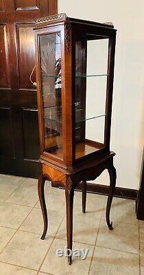 Antique wall curio cabinet