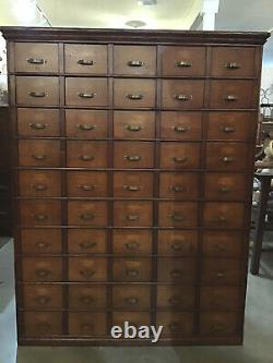 Apothecary Cabinet Vintage Industrial Hardware Multi Drawer Storage