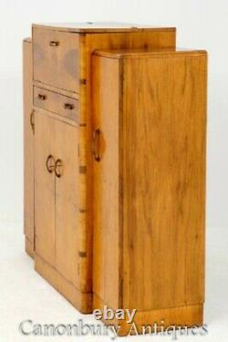 Art Deco Drinks Cabinet Maple Cocktail Chest 1930