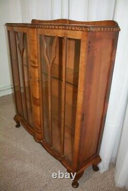 Art Deco Waterfall Cabinet Bookcase Curio Hutch