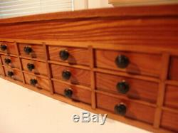 Beautiful Wooden Antique Watchmaker's 21 Drawer Storage Cabinet