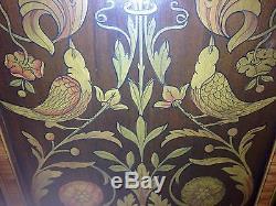 Berky & Gay Birds Of Paradise 1930's Walnut Cabinet