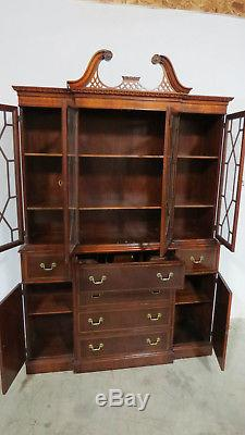 Breakfront China Cabinet Breakfront Mahogany Chippendale