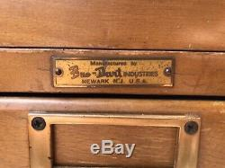 Bro-Dart Industries Vintage Wood Library Card Catalog