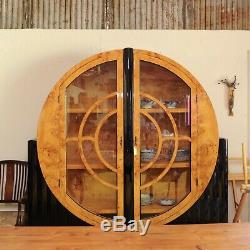 Burled Elmwood Art Deco Cabinet