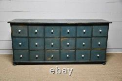 C. 1900 Painted 18 Drawer American Apothecary Cabinet