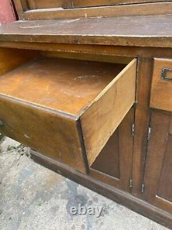 C1900 Walrus MFG antique store cabinet Country Oak Primitive General Apothecary