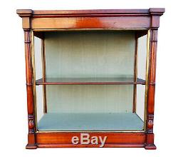 Charming Compact Antique Wall Hanging Bijouterie Glass Display Shelves Cabinet
