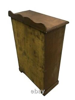 Charming Old Antique Oak Wall Display Cupboard, Shelves Cabinet Bookcase