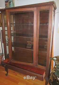 China cupboard hutch solid wood w glass doors sides drawer china cupboard hutch solid wood w glass doors sides drawer vintage cabinet planetlyrics Images