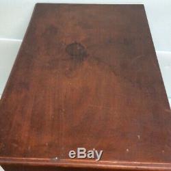 Collectors Cabinet Mahogany 2 Door 18 Drawer 20 1/4 Wide
