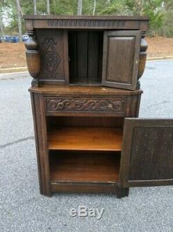 Court Cupboard Jacobean Tudor Cabinet Oak Old Charm