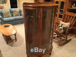 Curved Glass Curio Cabinet