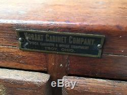 Diminutive Oak Nut And Bolt Multi Drawer Apothecary Cabinet Ohio Country Store