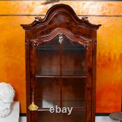 Dutch Bombe Bookcase Vitrine Display Cabinet on Chest Glazed Dresser Vintage