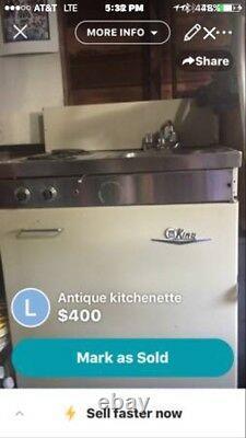 Dwyer Vintage kitchen kitchenette cook Stove Sink refrigerator cabinet porcelain
