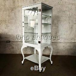 Early 1900's Metal Enameled Dental Cabinet / Display Case