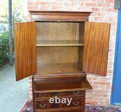 English Antique Mahogany Bar Cabinet