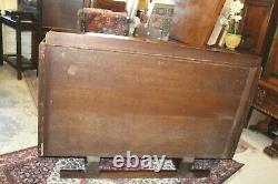 English Antique Oak Art Deco Sideboard Buffet Wine Bar Cabinet
