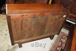 English Antique Oak Art Deco Sideboard Buffet Wine Bar Drink Cabinet Furniture