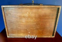 Excellent vintage/industrial solid oak set of collectors drawers, Edwardian