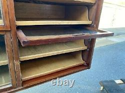 Fab Antique Haberdashery Cabinet Mercantile Dept Store Glass Fronts
