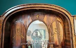 Fantastic Antique Zebrawood German Art-Deco Style Hallway Cabinet c1900