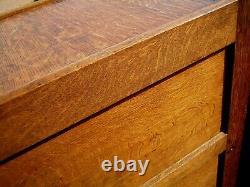 File Cabinet Oak Antique Vintage Library / Office 3 Drawer