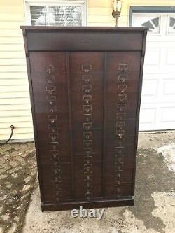 Free Ship Nj/nyc/phily Area Antique Filing Oak Letter File Cabinet 48 Slot