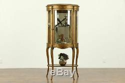 French Antique Vernis Martin Hand Painted Vitrine or Curio Cabinet #31683