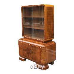French Art Deco Burled Walnut Cabinet