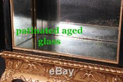 Gorgeous English Georgian Chinoiserie Gilded Liquor Cabinet Martini Bar C1920s