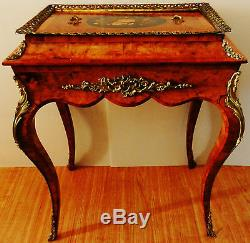 Gorgeous French Louis Style Small Top Cabinet Chest Table Or Jewelery Chest