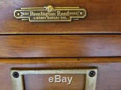 Gorgeous Mid Century Remington Rand 32 Oak Drawer Card Catalog Massapequa Park