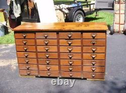 Great Antique Hardware Store Cabinet With 28 Oak Drawers Reed Hardware-c F-oh