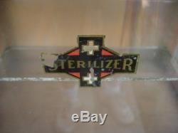 Great Original Vintage Barber Medical Antiseptic Sterilizer Wood Cabinet Box