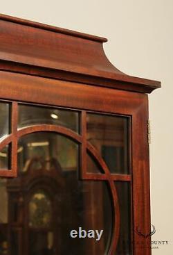 Henkel Harris Mahogany Pagoda Top Mirrored Bar, Liquor Cabinet