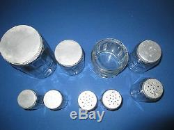 Hoosier Cabinet Colonial Spice Jar Set 9 Pcs