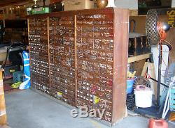 Huge ANTIQUE 305 DRAWER TALL HARDWARE STORE MULTI DRAWER APOTHECARY CABINET Oak