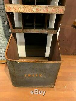 Industrial Vintage Cubbies, Hardware Factory Metal Cabinet