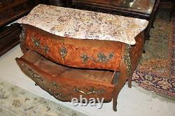 Inlaid Rosewood Bombay Style French Antique Chest of Drawers / Sideboard
