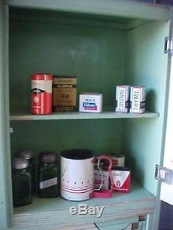 Inpeccable Art Deco Vintage Hoosier Cabinet Mid Century Kitchen ORIGINAL PAINT