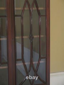 L23402EC POTTHAST BROTHERS Vintage Mahogany Beveled Glass Breakfront