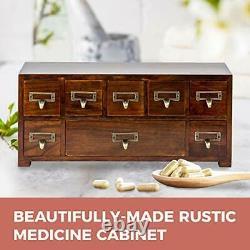 Label Holder Organizer Traditional Medicine Cabinet Vintage Card Catalog
